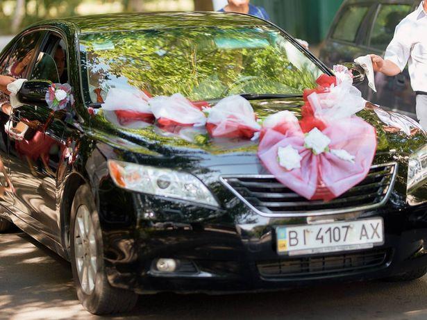 Свадебная лента на машину