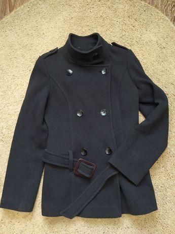 Пальто удлиненный пиджак с воротником стойка на весну-осень размер S-М