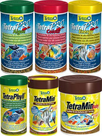 Tetra: корма и средства по уходу за водой