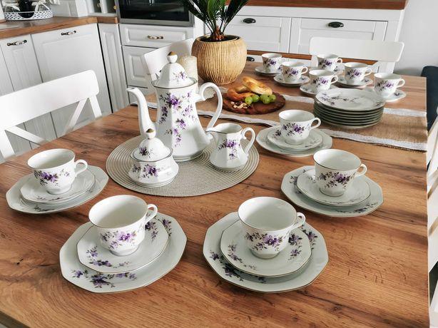 Porcelana niemiecka Bavaria zestaw śniadaniowy