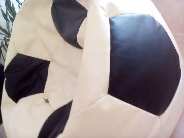 Кресло бескаркасное пуфик мяч футбольный 90*100*90 кожа Польша