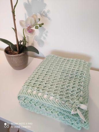 Manta de bebé em lã