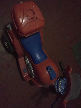 Детский трехколесный электромотоцикл. Передняя и задняя передача.