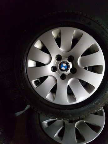 Całe koła zima BMW 5x120 205/60/16