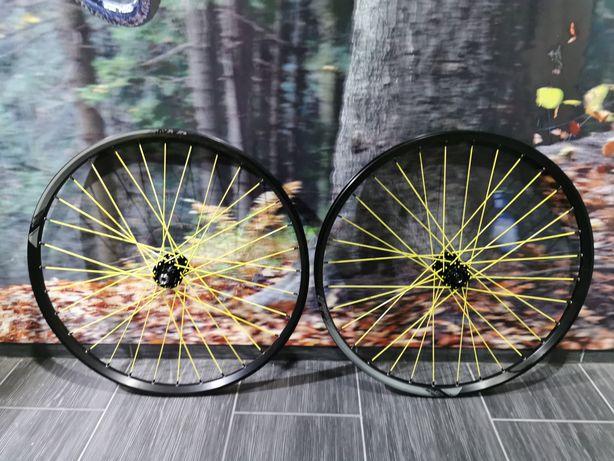 """Koła 29"""" boost 148x12 110x15 enduro trail mtb. Formuła, kls, żółte"""