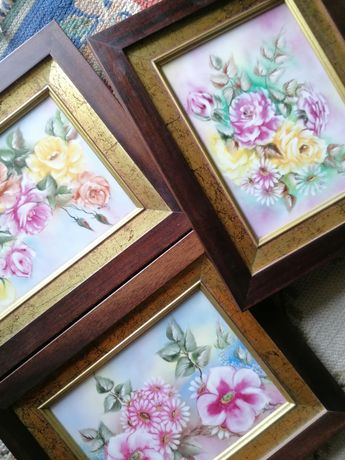 Quadros vintage flores