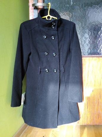 Czarny płaszczyk kurteczka M modna elegancka