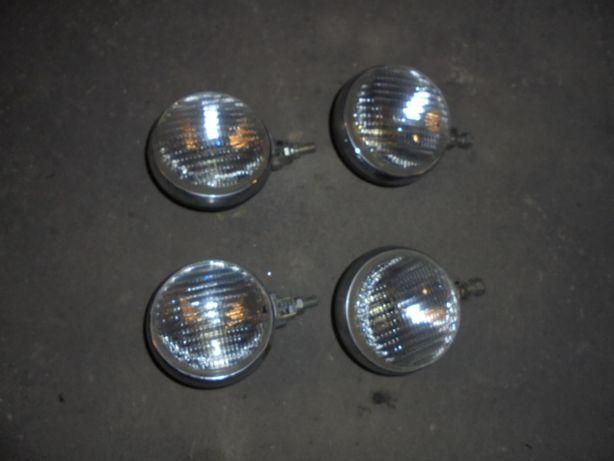 Lampy przednie halogeny i przeciwmgielne zabytkowe -chromowe.