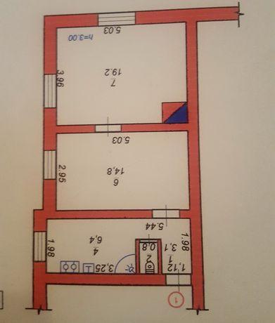 продається 2 х кімнатна квартира