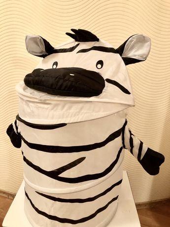 Бочка для игрушек зебра