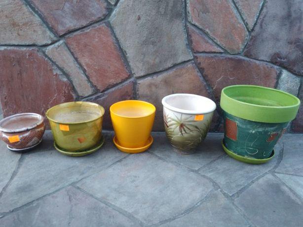 Горшки керамические диаметром 14-24 см