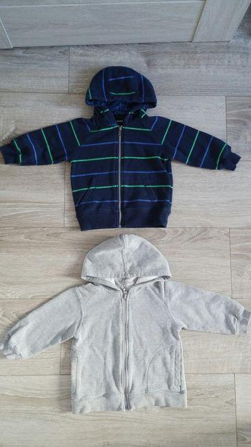 Bluzka bluza komplet kaptur paka ubrań 86 chłopięca długi rękaw tanio