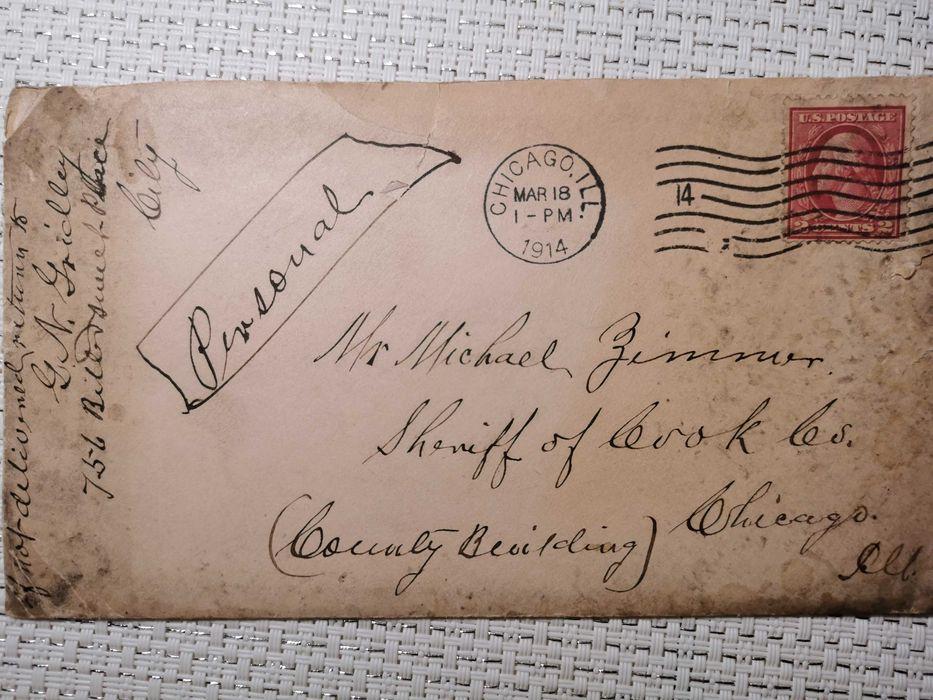 List prywatny Chicago 1914 Police - image 1