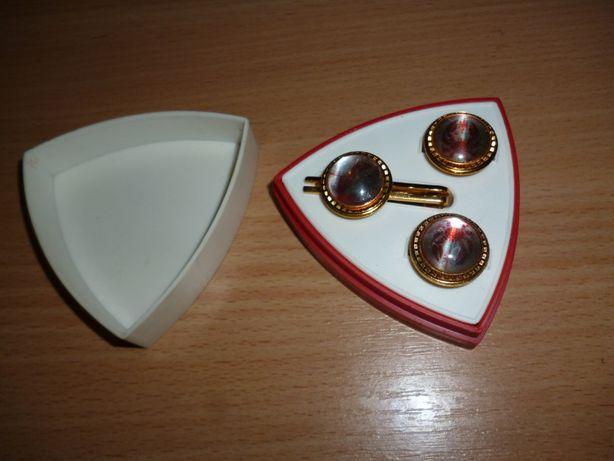 запонки с держателем для галстука СССР Рак позолота без клейма