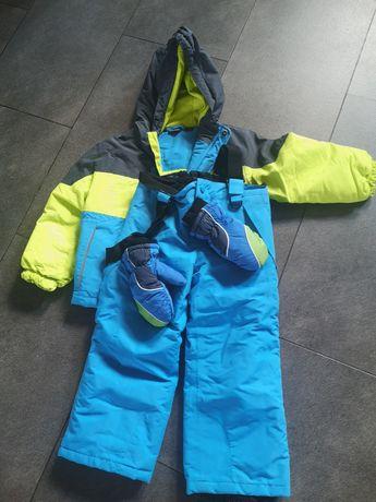 Kurtka narciarska, spodnie narciarskie, na narty, lupilu 98/104