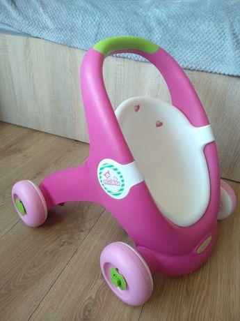 Wózek dla lalek pchacz chodzik Smoby