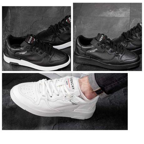 Мужские черные кожаные кроссовки Givenchy Paris белые живанши кросівки
