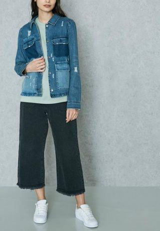 Рваная джинсовая куртка пиджак only