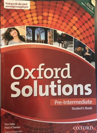 Oxford Solutions. Pre intermediate. Podręcznik