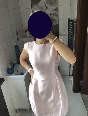 Sukienka pudrowy róż Simple S