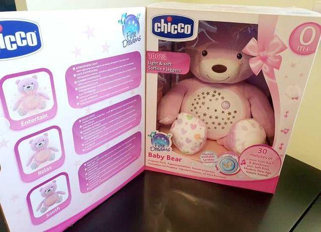 Chicco Miś z projektorem różowy NOWY