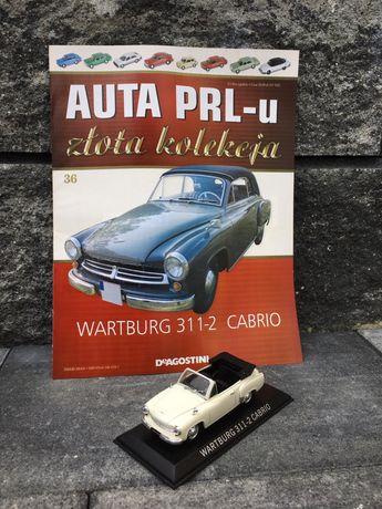 Kolekcjonerski WARTBURG 311-2 CABRIO-auta PRL,model,autka,resoraki