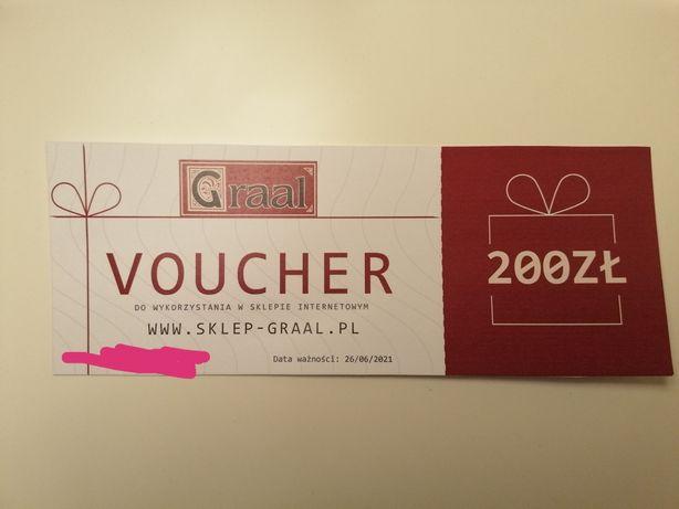 Voucher (kod zakupowy) do sklepu Graal o wartości 200 zl