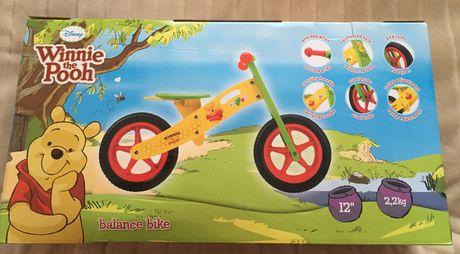 NOWY rowerek biegowy + kask Disney Kubuś Puchatek!