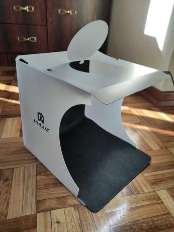 Mini estúdio portátil com LED
