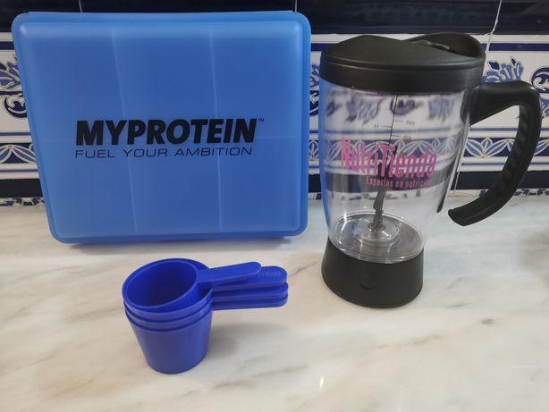 Material Fitness Musculação Nutrição Liquidificadora Caixa Refeições