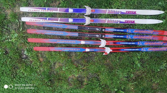 Narty biegowe Madshus w ładnym stanie - komplet 3 pary nart za 450zł