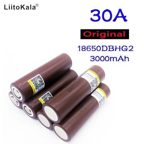 Высокотоковый Аккумулятор 18650 LG HG2 3000mAh Liitokal 20A  шуруповёт