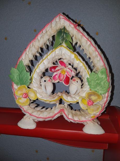 Сердечко сувенир ракушки поделка ручная работа