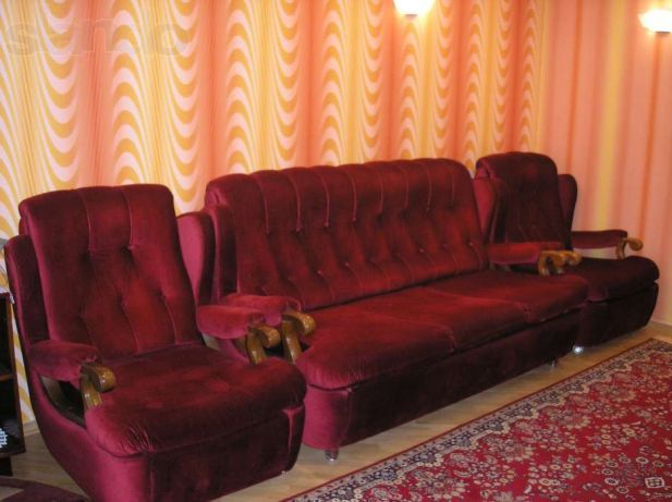 Мягкая мебель для гостиной диван кресла 3+1+1 (Италия)