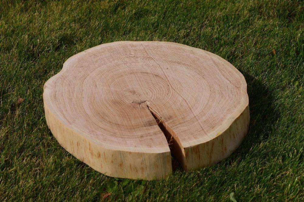 Plastry drewniane Dąb szlifowany bez kory 35 - 40 cm GRUBY 6 cm!!! Gdynia - image 1