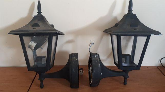 Kinkiety zewnętrzne metalowe 2szt czarne