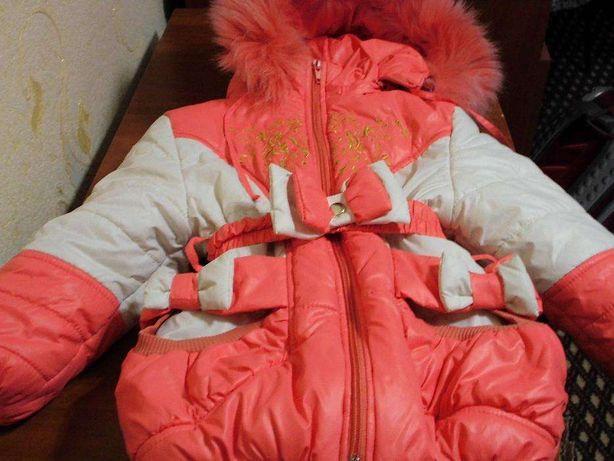 Продам детский зимний комбинезон с курткой на девочку