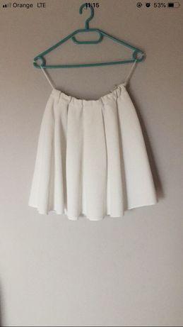 Spódniczka biała na gumce reserved rozkloszowana nowa elegancka biała