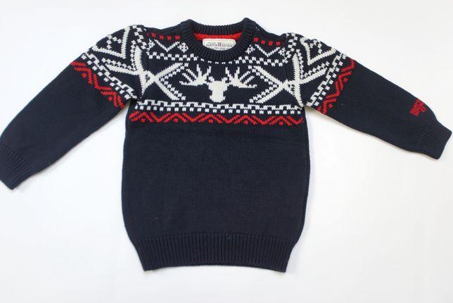 zimowy sweterek Kappahl Hampton 110/116 j NOWY