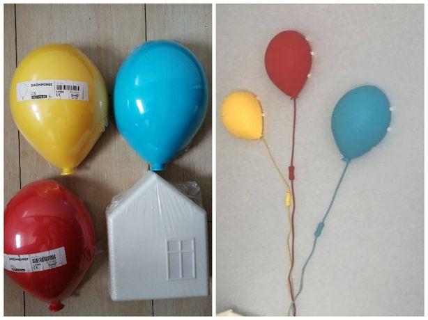 Ikea lampy ścienne balon+domek 4 szt