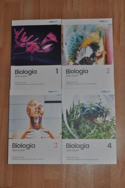 Zestaw Biologia Zbiór zadań matura 2020/2022 tom 1-4 BIOMEDICA