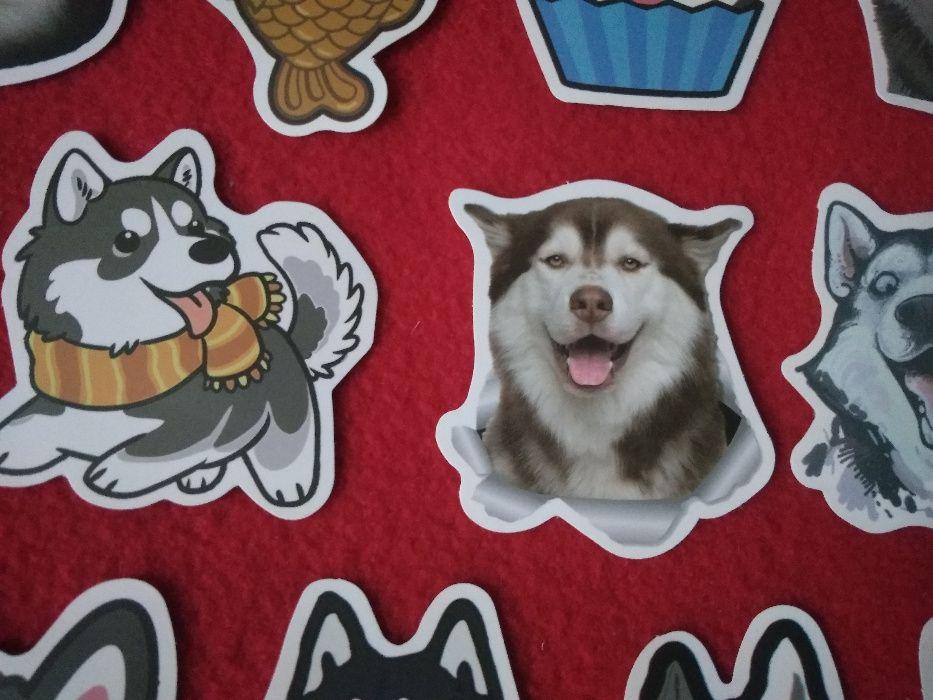 Naklejki 50 sztuk Pies Husky zwierzę przyjaciel