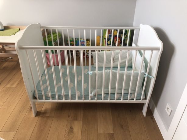 Łóżeczko dziecięce białe BELLAMY 120x60