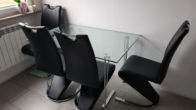 Stół szklany 120x80