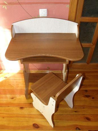 Парта и стул школьные регулируемые, парта-растушка, стол и стул