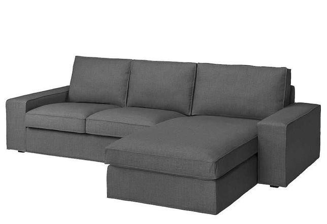 Sofá Kivik ikea 3 lugares com chaise longue