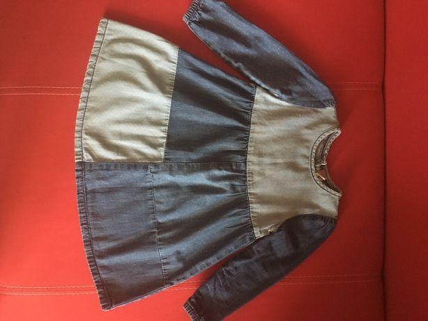 Шикарное джинсовое платье Tu 2-3 года 92 -98 размер