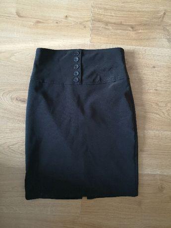 Czarna ołówkowa spódnica elegancka S 36