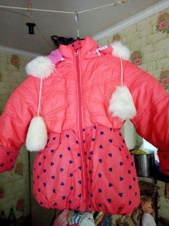 Куртка зимня на дівчинку