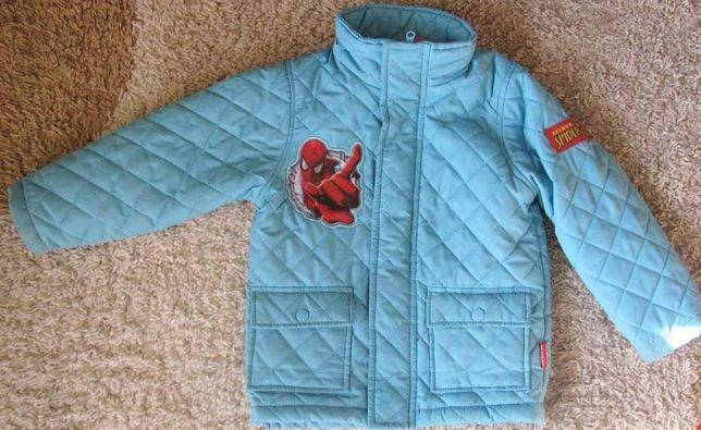Niebieski kurtka jesienno/wiosenna rozm.104-st.idealny
